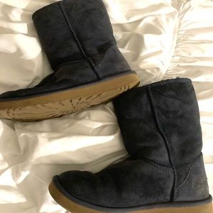 Navy Blue Suede Classic Short Ugg Boots Size 10